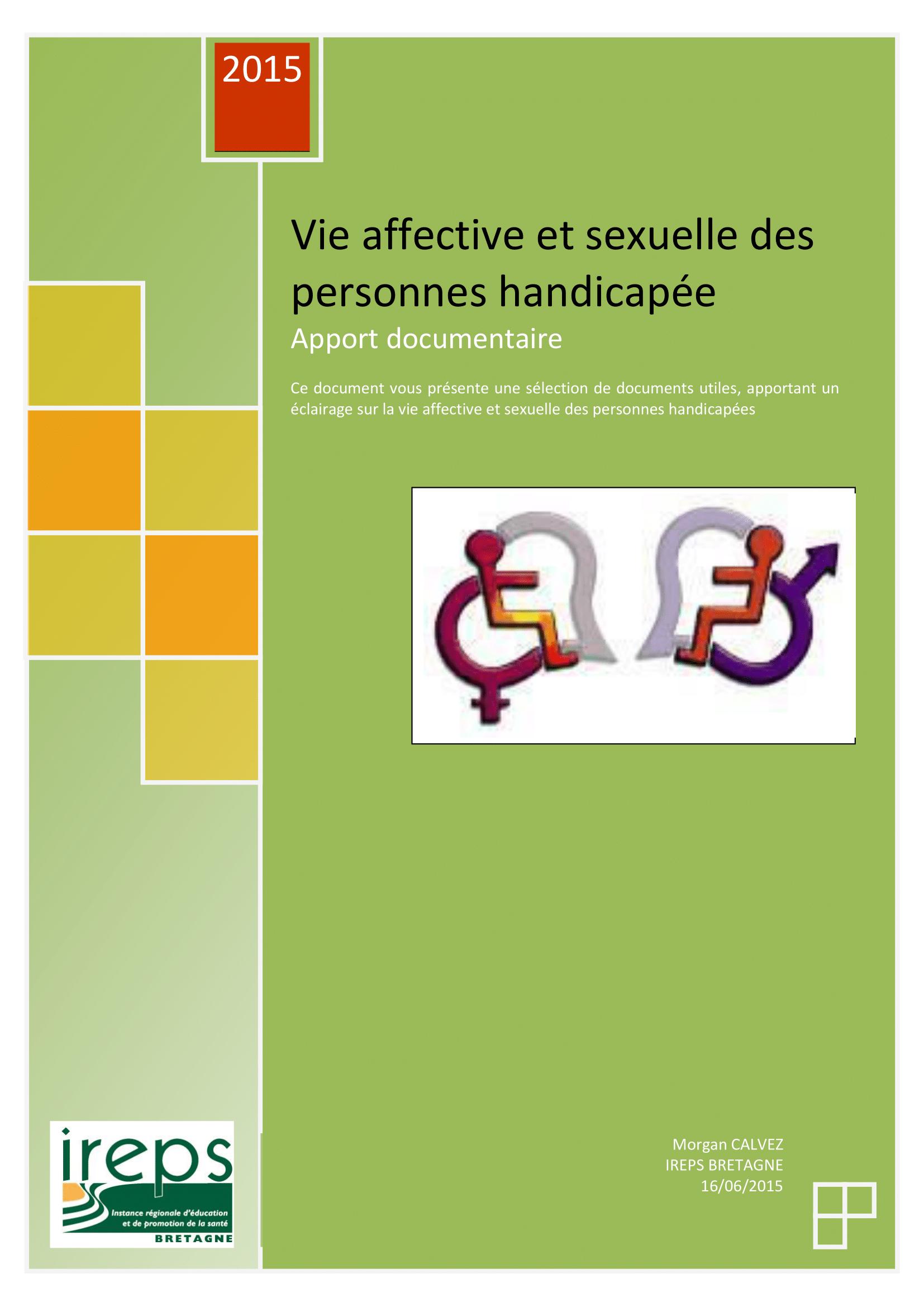 Vie affective et sexuelle des personnes handicapées : Apport documentaire