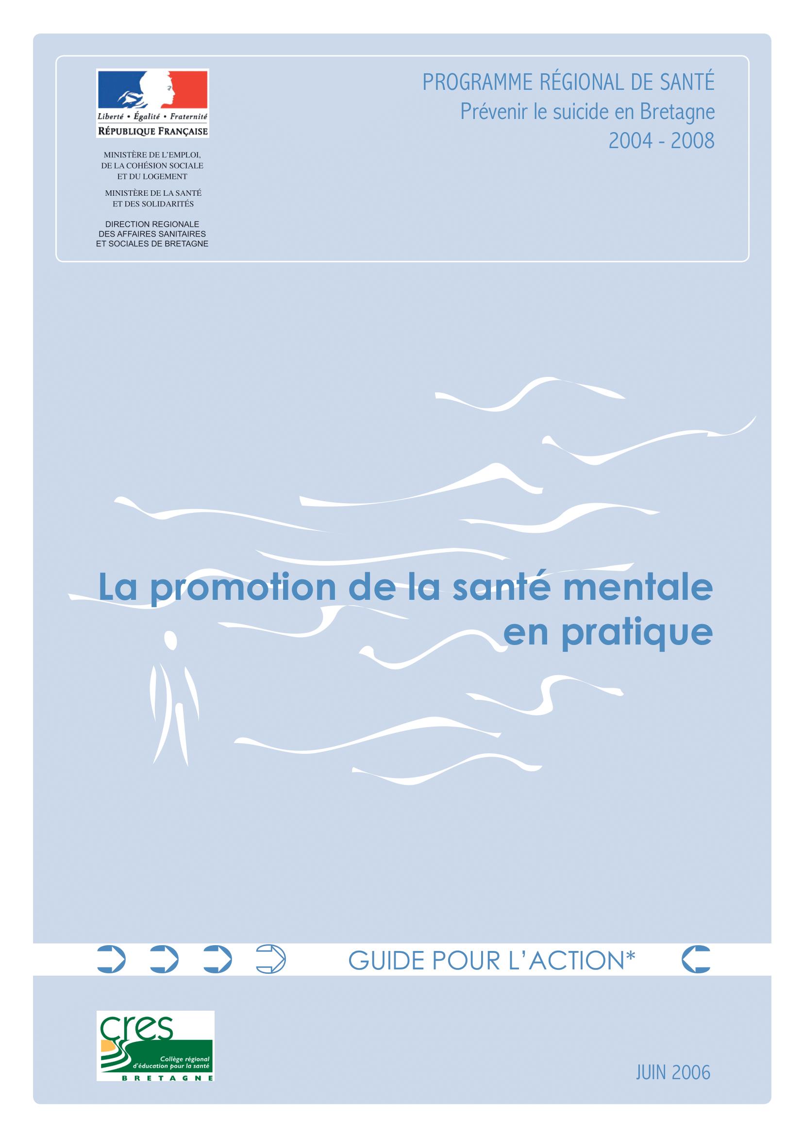 La promotion de la santé mentale en pratique